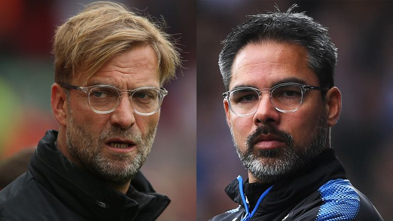 Liverpool boss Jurgen Klopp (left) and his Huddersfield counterpart David Wagner go head to head at Anfield this weekend