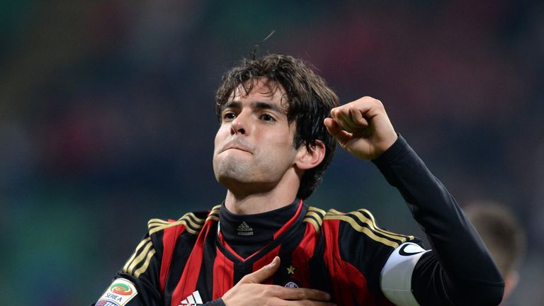 Kaka will pull on an AC Milan shirt at Anfield this weekend