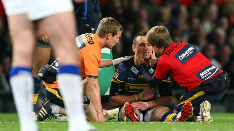 And that after Sinfield had been knocked out cold following a late Michael Monaghan tackle