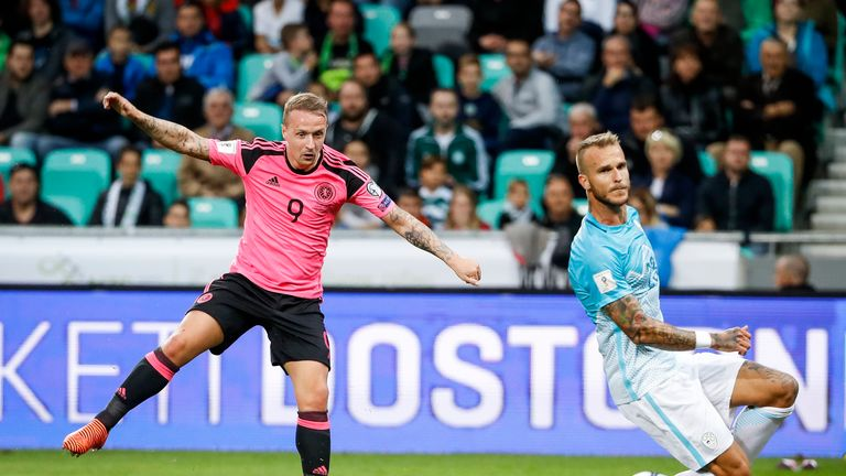 Leigh Griffiths put Scotland ahead with a superb volley from a tight angle