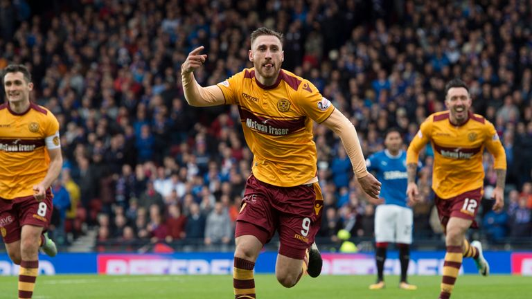 Motherwell's Louis Moult has had an impressive season so far with 11 goals in 17 appearances in all competitions