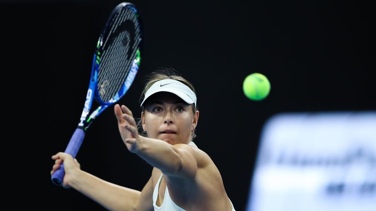 Maria Sharapova, back at the scene of her failed drugs test two years ago, has a lot of work to do
