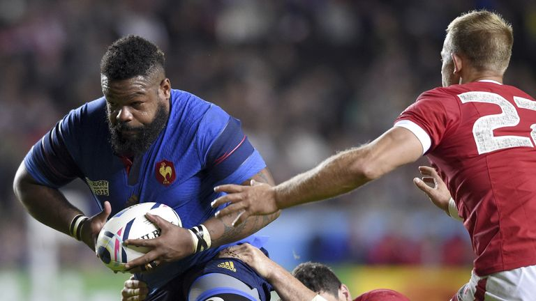 Mathieu Bastareaud's inclusion is one of four changes to France's backline