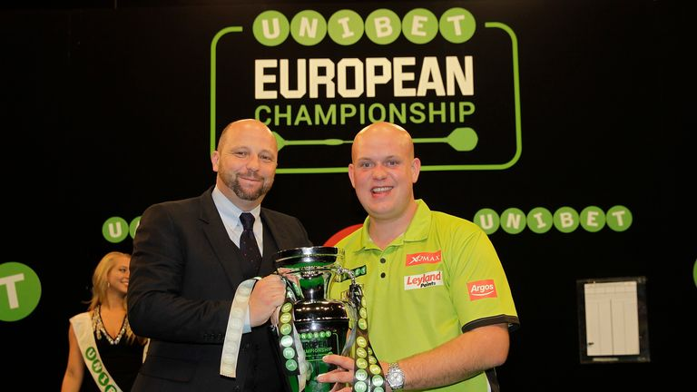 Michael van Gerwen has won the last three European Championship titles