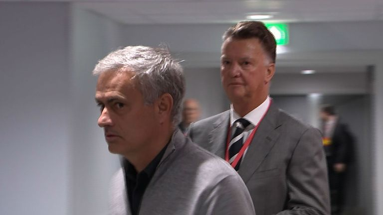 Louis van Gaal  (right) has labelled Jose Mourinho's United 'too defensive'