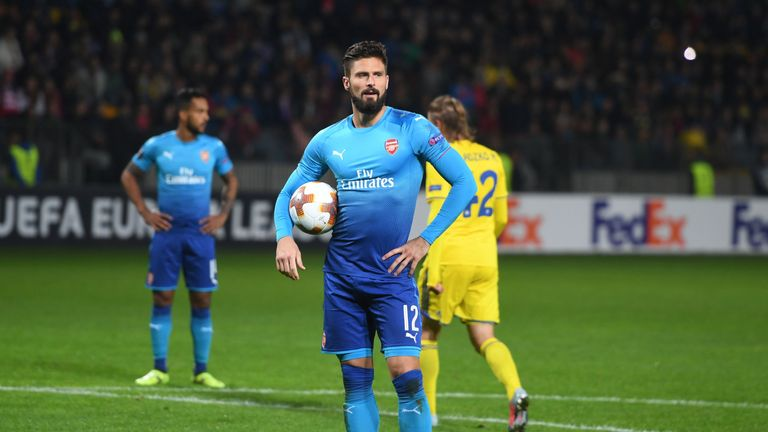 Olivier Giroud almost left Arsenal for Everton over the summer, the player has revealed