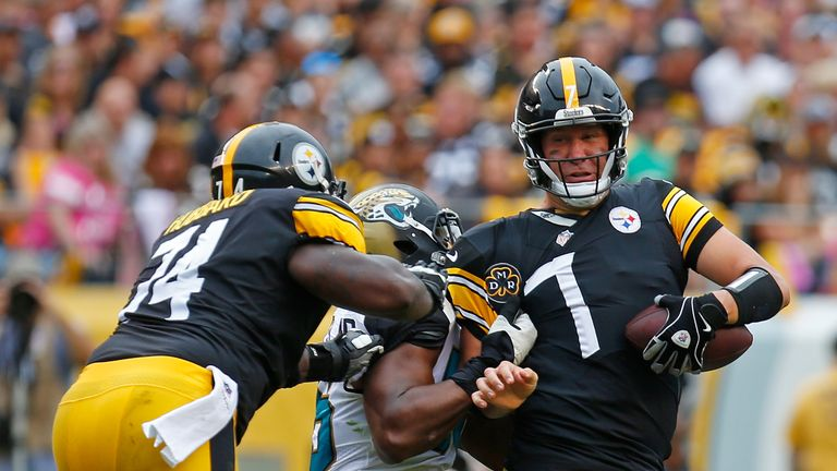 Ben Roethlisberger struggled at QB for the Steelers in the first game against the Jaguars