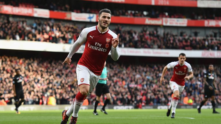 Sead Kolasinac has scored three goals for Arsenal in all competitions