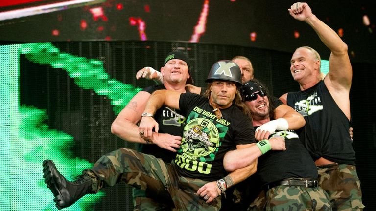 D-Generation X reformed during the 1,000th Raw episode