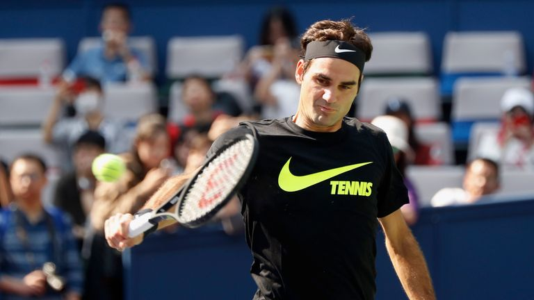 Roger Federer is attempting to win his second title in Shanghai