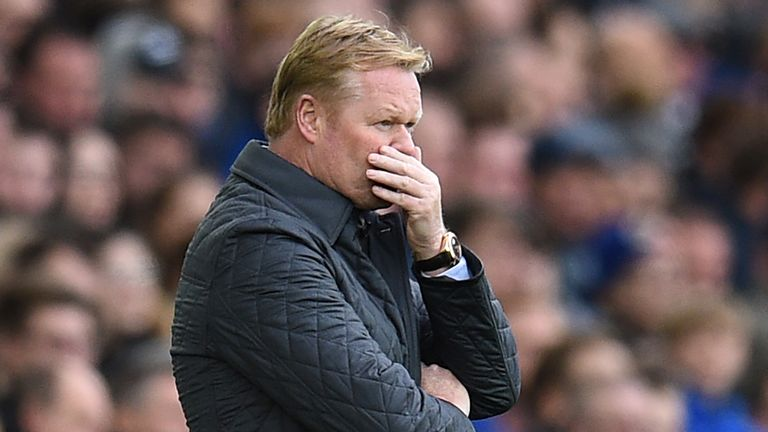 Ronald Koeman was sacked in October, after two league wins from nine league games