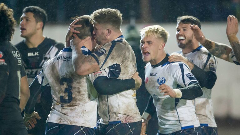 Scotland drew 18-18 with New Zealand in Workington during last year's Four Nations competition