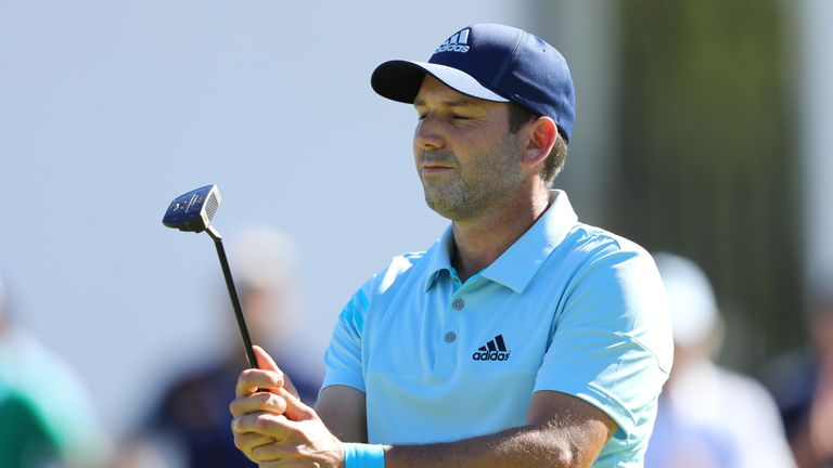 Garcia carded a 68 to hit the front on eight under