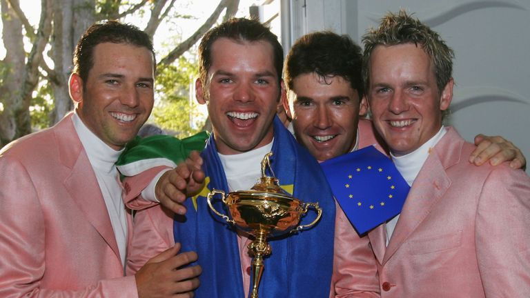 Luke Donald (right) has one of the best winning records in the Ryder Cup