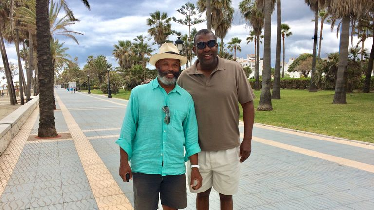 Shaun Gayle (L) pictured with dear friend Kevin Cadle (R)