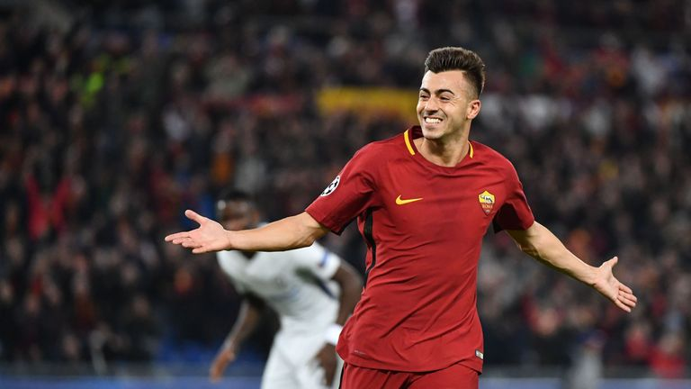 Stephan El Shaarawy celebrates after scoring