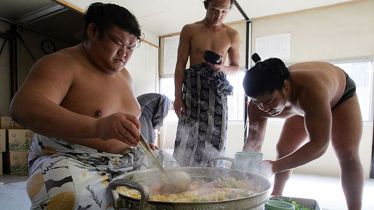 Food and Sumo go hand-in-hand in the 'Kitchen of Japan', Osaka