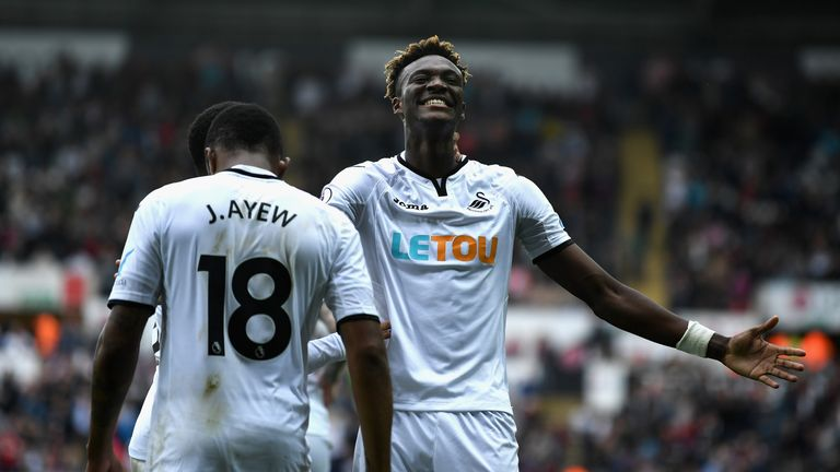 Swansea striker Tammy Abraham is a doubt for the trip to St James due to a hip problem
