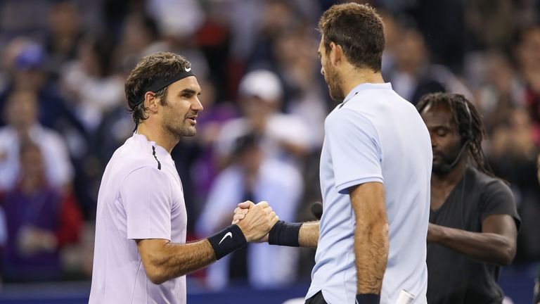 Del Potro congratulates Federer on setting up a mouth-watering clash with old foe Rafael Nadal