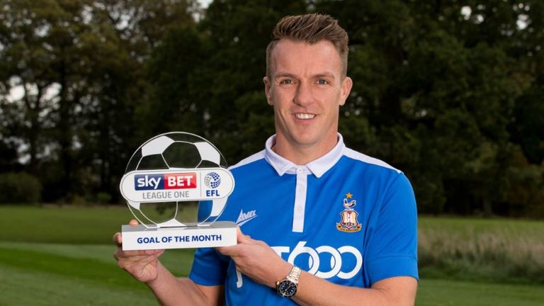 Tony McMahon won the Sky Bet League One Goal of the Month for September