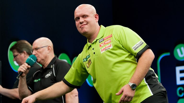 Michael van Gerwen is chasing a fourth successive European Championship title (Picture: Kelly Deckers)