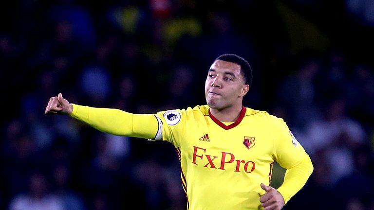 Watford's Troy Deeney celebrates after equalising at Vicarage Road