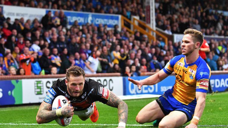 Hardaker scores against Leeds for former club Castleford