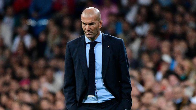 Zinedine Zidane has watched his team make a slow start to the season