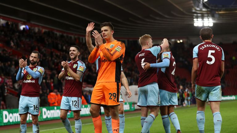 Nick Pope has saved 88% of shots on target faced for Burnley this season