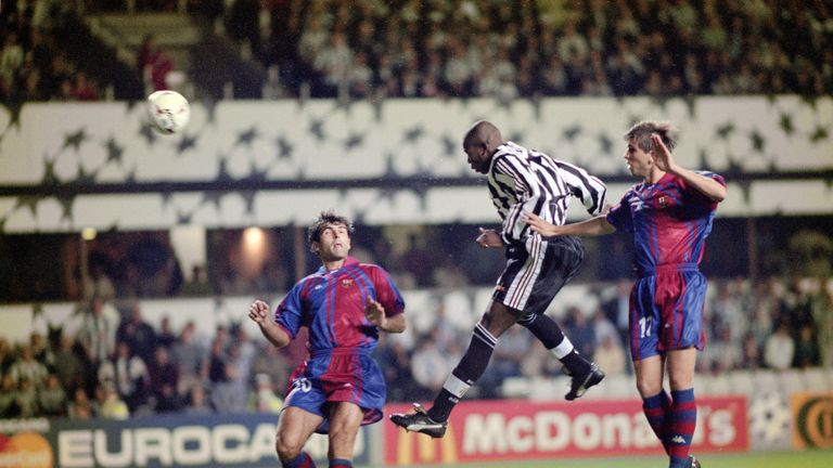 Asprilla scored a hat-trick as Newcastle recorded a famous 3-2 win over Barcelona in 1997