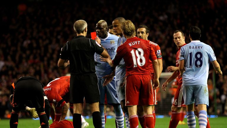 Balotelli was sent off four times in 17 months at one stage of his time with Manchester City