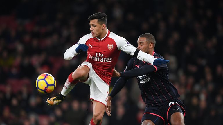 Alexis Sanchez scored Arsenal's third after latching onto Mesut Ozil's cross