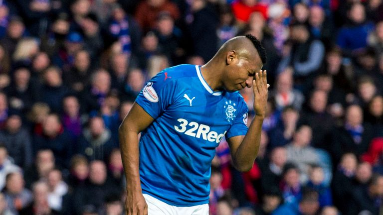 Alfredo Morelos failed to find the net for Rangers