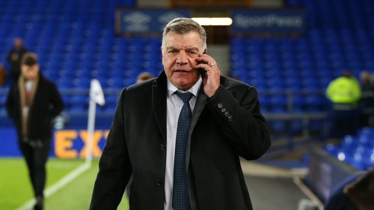 Sam Allardyce is seen arriving at the stadium prior to the match