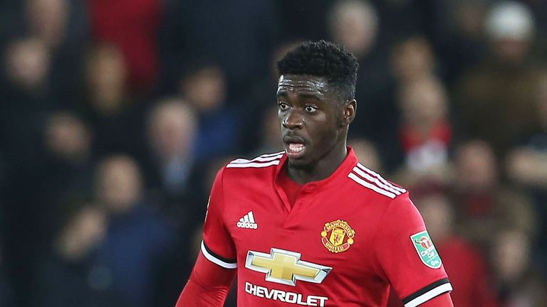 Axel Tuanzebe has appeared three times this season for Manchester United