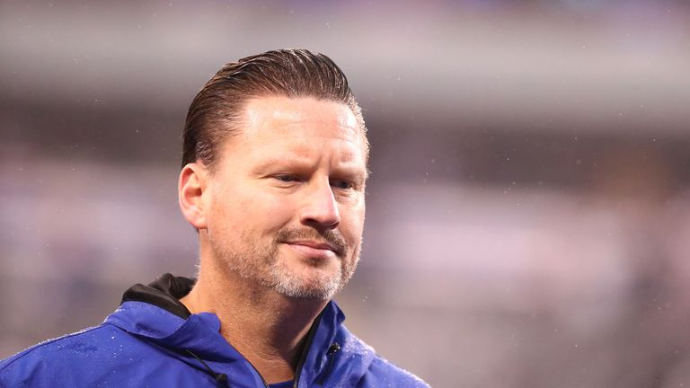 Head coach Ben McAdoo of the New York Giants looks on after a 51-17 loss against the Los Angeles Rams