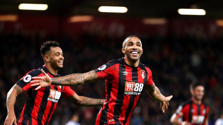 Bournemouth striker Callum Wilson scored a hat-trick during a 4-0 win over Huddersfield