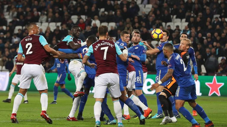 Marco Arnautovic watches on as Cheikhou Kouyate equalises for West Ham