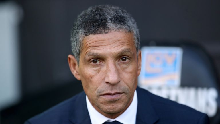 Chris Hughton is yet to beat a Jose Mourinho side in his managerial career