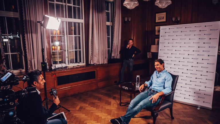 Rafael Nadal was speaking on behalf of Dekton by Cosentino in London