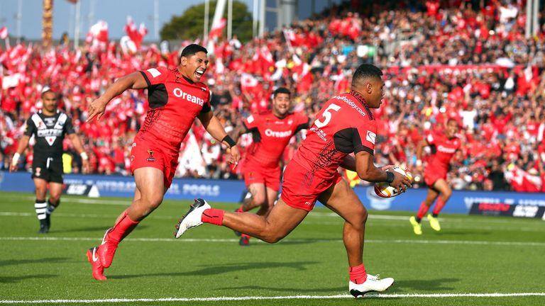 David Fusitua racks up a score to help sink New Zealand