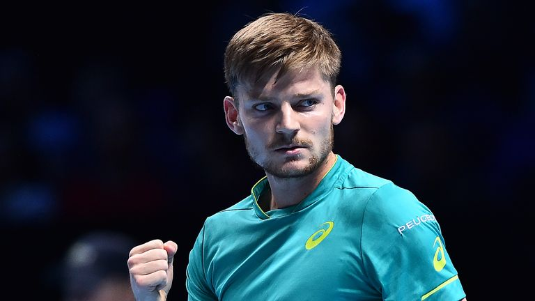 Goffin will lead his country Belgium in the David Cup final against France next weekend