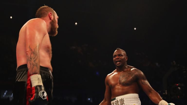 Whyte has traded heated words with Browne on social media