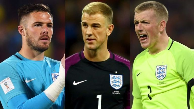 Jack Butland, Joe Hart, Jordan Pickford were selected as England's goalkeepers in November 2017