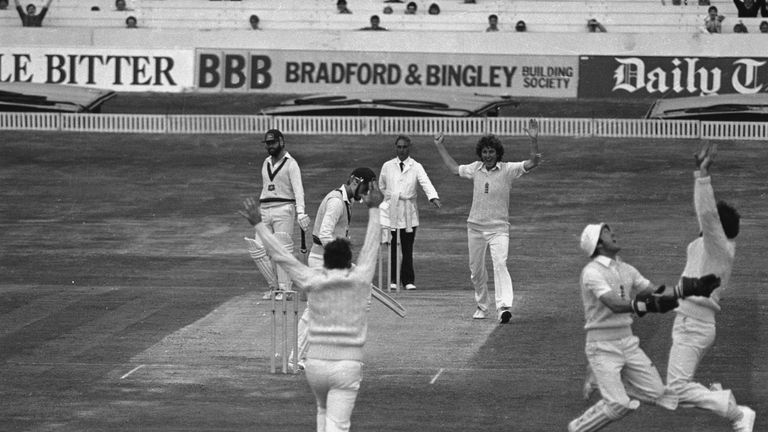 Bob dismisses Australia's Geoff Lawson for one in the 1981 Ashes