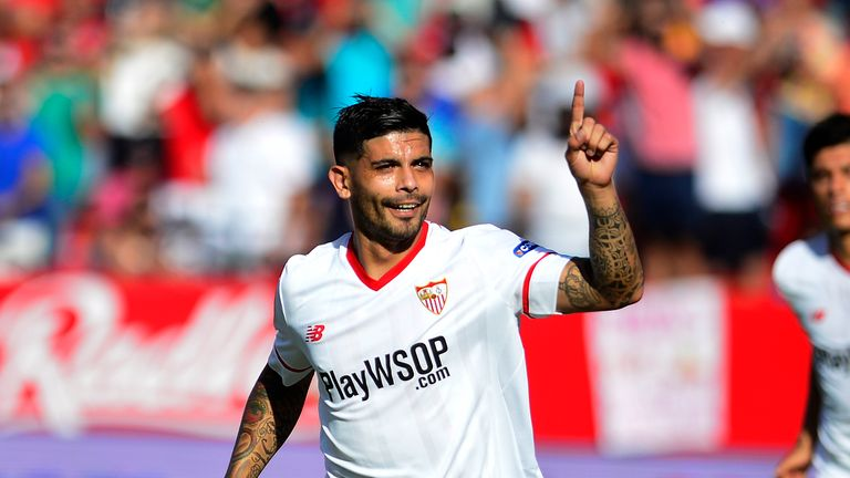 Ever Banega was one of four Sevilla players pictured at a party over the weekend
