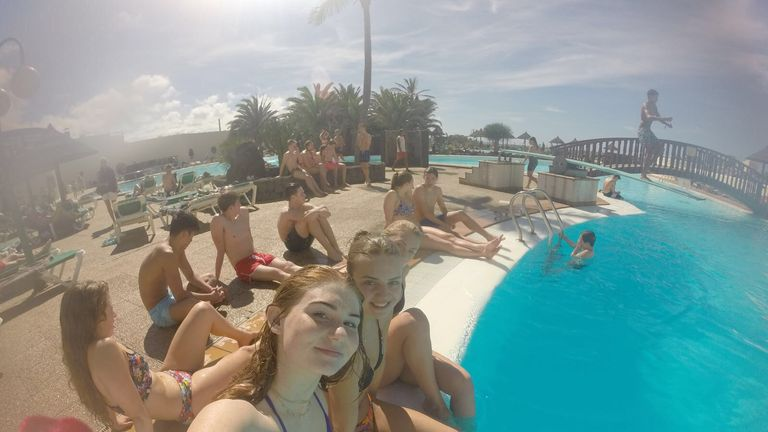 Freya Anderson had to work hard for her downtime in Lanzarote!