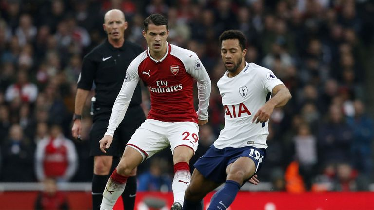 Xhaka has featured in all of Arsenal's 12 Premier League games this season