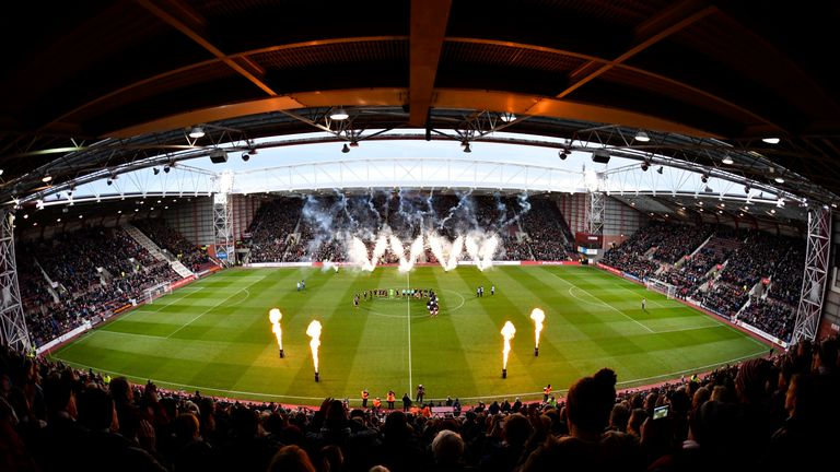 Hearts' refurbished Tynecastle Park had failed an inspection on Saturday, before the game was cleared to go ahead on Sunday