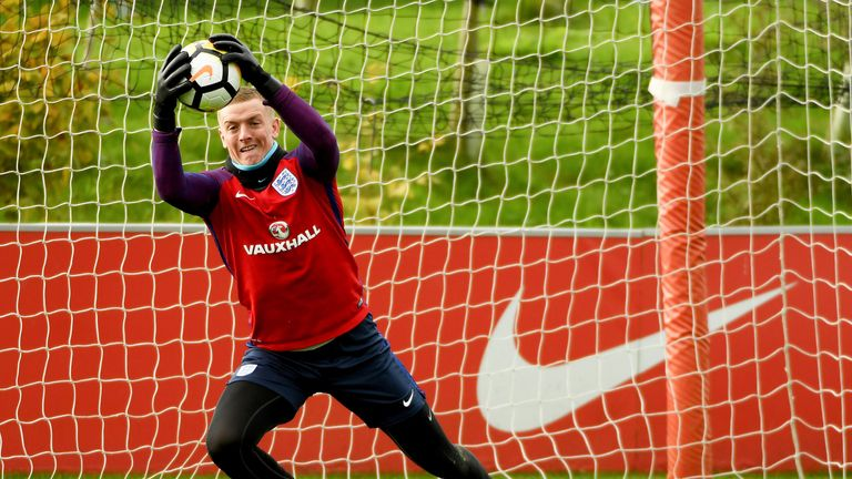 Everton goalkeeper Jordan Pickford is also set to make his senior debut for the Three Lions